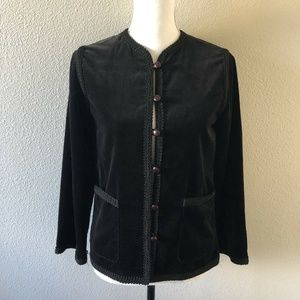 Saks Fifth Avenue Vtg Black Velvet Blazer Jacket